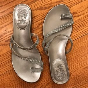 NWOT Vince Camuto Sandals, Silver